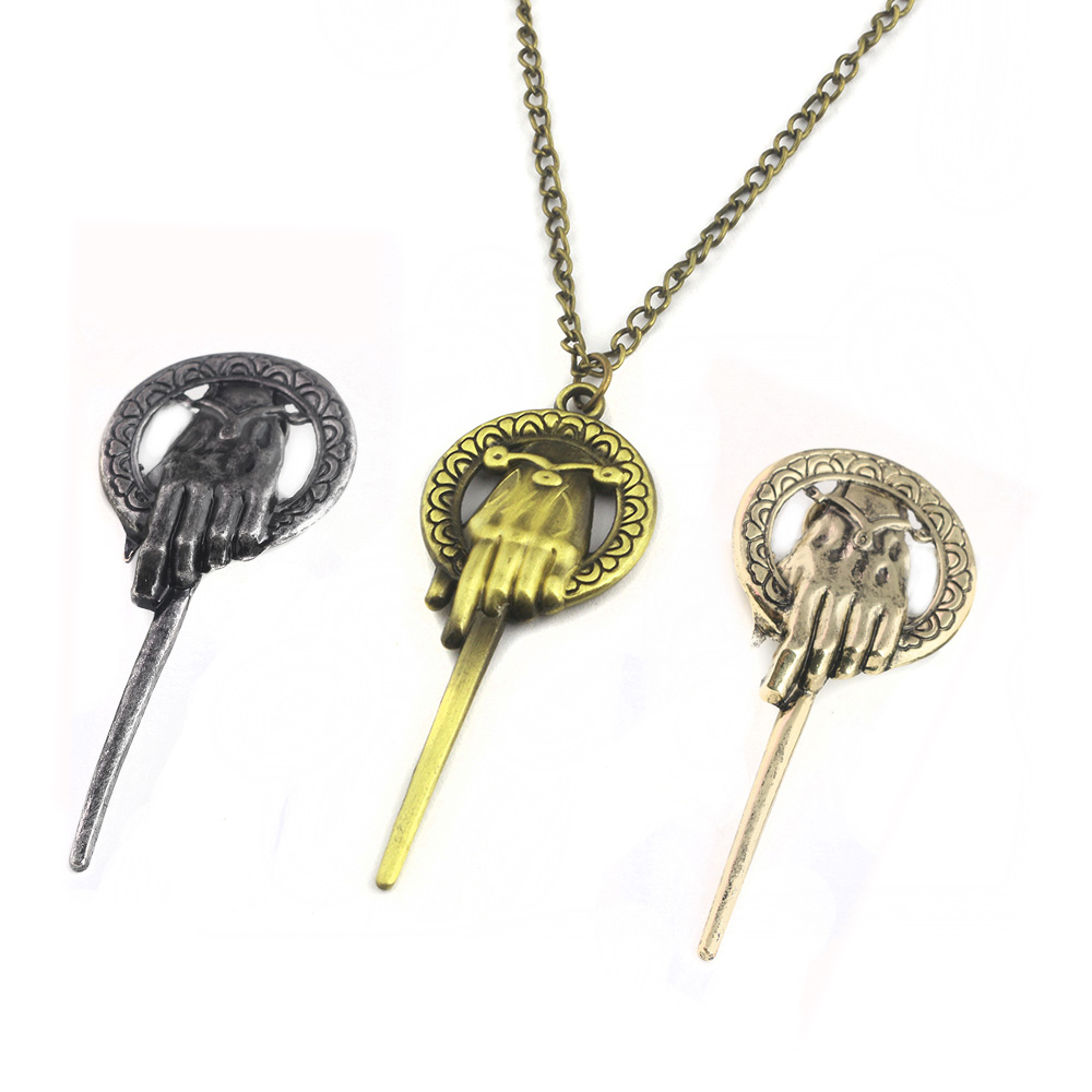RJ 20Pcs/Lot Game Of Thrones The Hand of the King Necklace A Song of Ice And Fire Necklaces For Men Fans Gift Choker Broche
