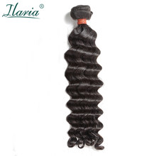 "ILARIA HAIR 8A Mink Brazilian Virgin Hair Water Wave 1 Piece Natural Color 10""-30"" Unprocessed Brazilian Human Hair Weave Bundle(China)"