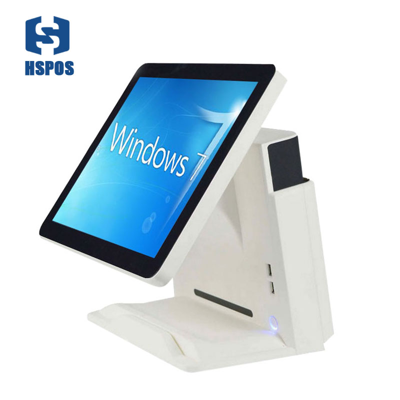 All in one POS Capacitive Touch Screen POS Billing System Cash Register support win 10 used in catering 15 inch android all in one pos system dual screen touch cash register and 80mm thermal printer and 410mm pos cash drawer