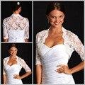 Фактический изображения крючком для сердечком платья свадебные пальто накидка свадьба болеро