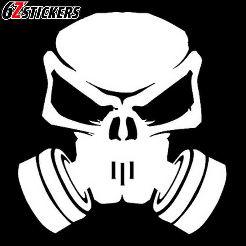 Sixsub 1 Uds Nitro Skull Hardcor 40X40cm Fash pegatinas de coche motocicleta pegatinas para carrocería y ventana estilo de coche
