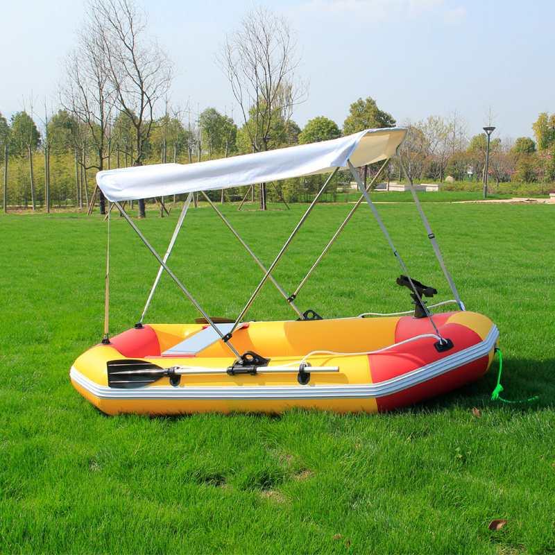 2 personnes bateau gonflable Kayak accessoires pêche ombre pare-soleil pluie auvent Kayak Kit voilier auvent couverture supérieure bateau abri