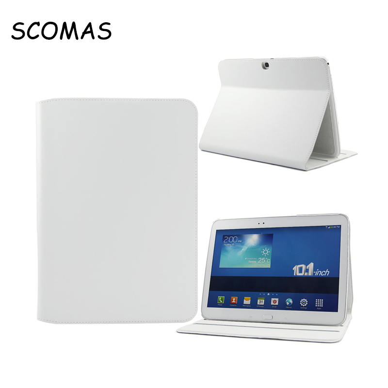 SCOMAS New folding 4 Color Elegant Tablet PC Leather Case for Samsung P5200 Tab 3 10.1 Tablet Case and Cover for Free Shipping