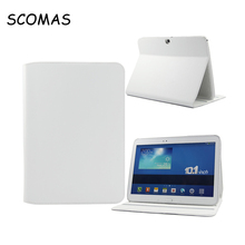 SCOMAS New folding 4 Color Elegant Tablet PC Leather Case for Samsung P5200 Tab 3 10.1″ Tablet Case and Cover for Free Shipping