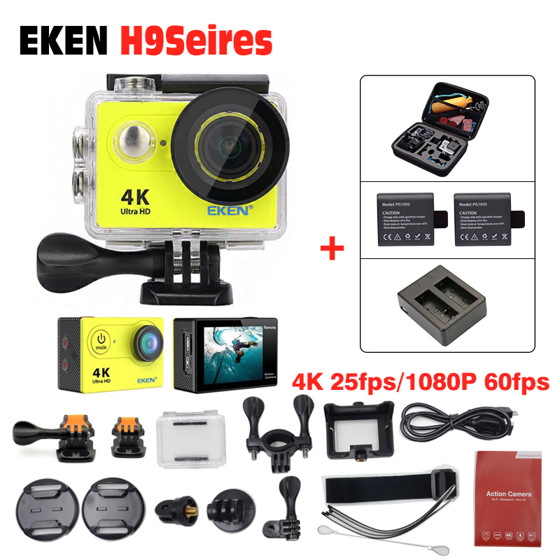 Eken H9R / H9 4K WIFI Outdoor action Camera Video Sports Camera wifi Ultra HD Waterproof DV Camcorder 170 Degree Wide Angle original eken action camera eken h9r h9 ultra hd 4k wifi remote control sports video camcorder dvr dv go waterproof pro camera