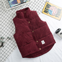 new Down cotton vest women autumn and winter corduroy thickening mens couple men