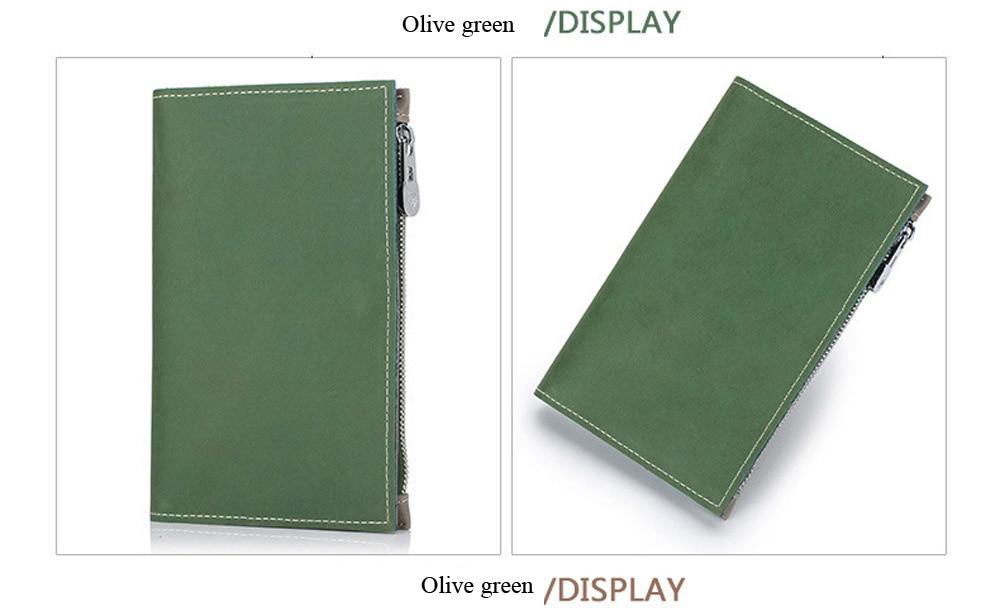 Capa para passaporte split carteira de couro