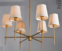 3 4 6 8 Heads American Industrial Style Wrought Iron Pendant Light Cloth Art Bars Light