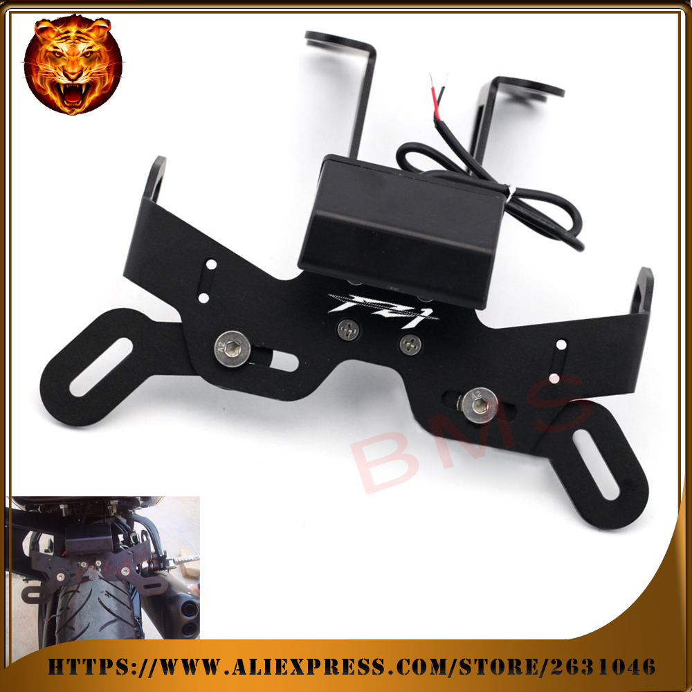 Motorcycle Tail Tidy Fender Eliminator Registration License Plate Holder bracket LED Light For YAMAHA FZ1 fz 06-13 free shipping aftermarket free shipping motorcycle parts eliminator tidy tail for 2006 2007 2008 fz6 fazer 2007 2008b lack