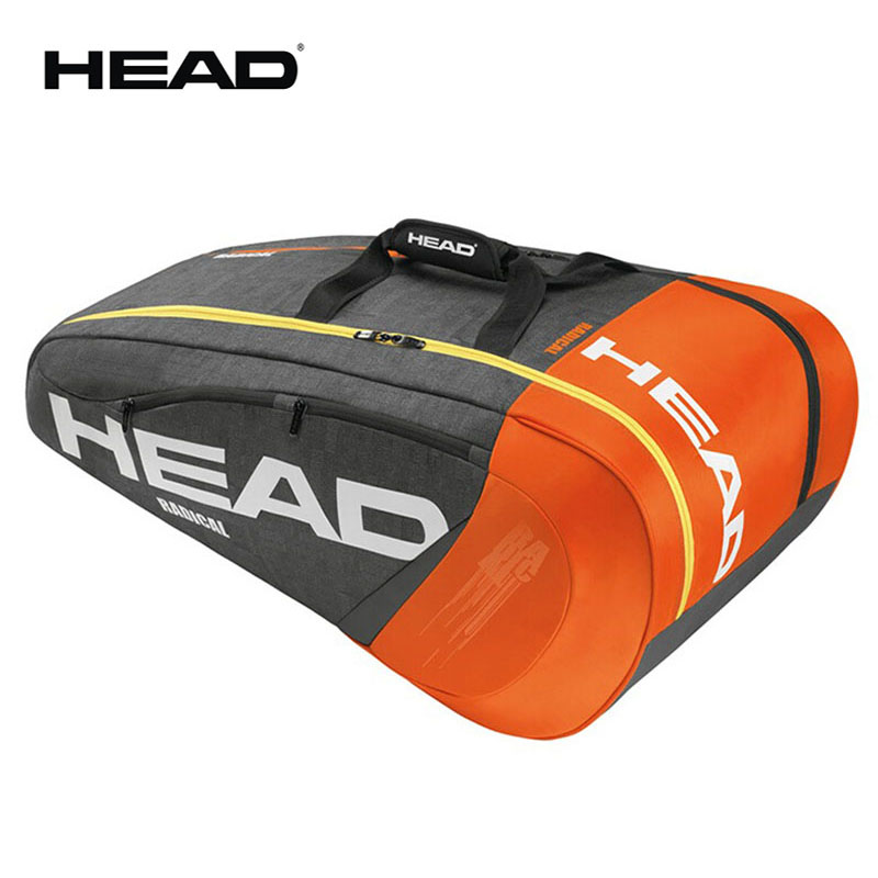 Limited Head Radical Tennis Bag Max For 6 Tennis Rackets Professional Male Sports Backpack With Independent