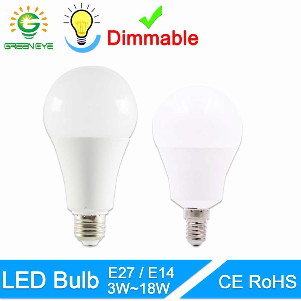 Green Eye LED lamp E27 LED bulb dimmable E14 AC 220V 230V 240V 15W 12W 9W 6W 3W Lampada LED Spotlight Table lamp Lamps light