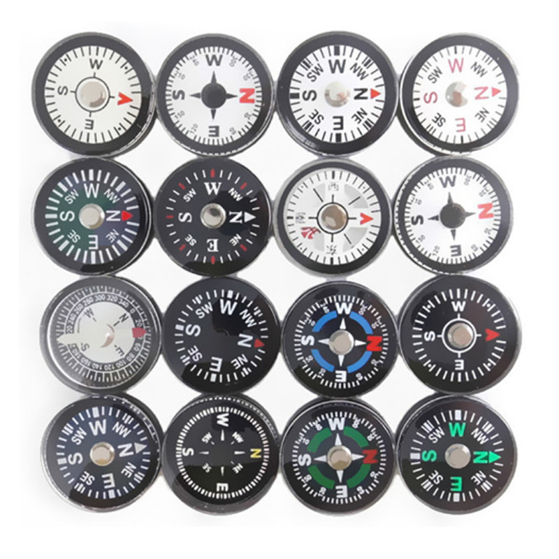 Compass Compass 20mm High Precision Oil Injection Plastic Outdoor Environmental Compass Camping Hiking Hiking Outdoor Essential