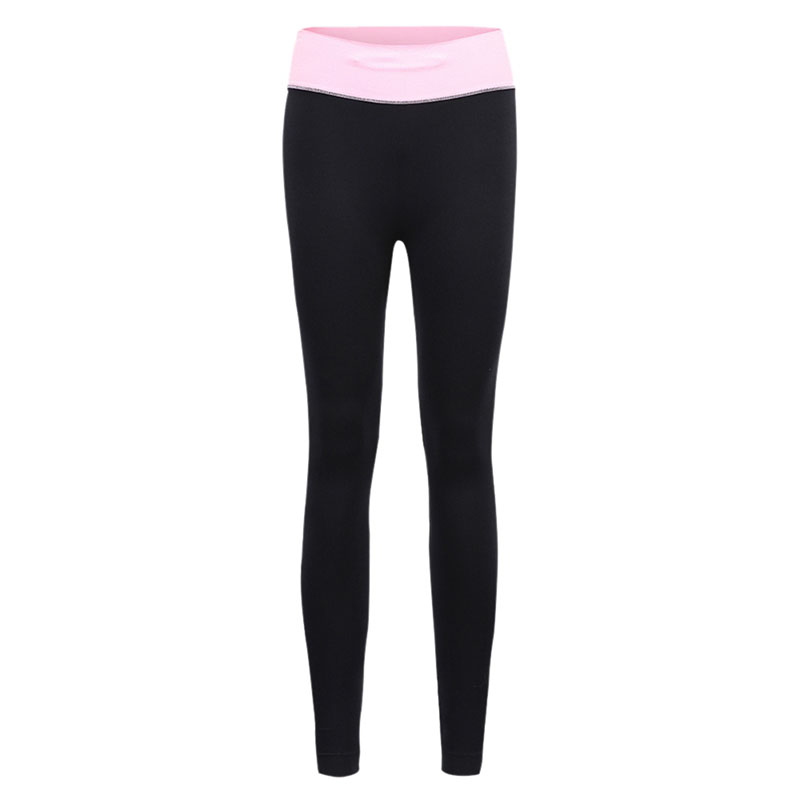 f37a7398299a3c Ladies Color Block Fold Over Waist Yoga Pants Fitness Elasticity Running Workout  Leggings Pants with Pocket Women Legging