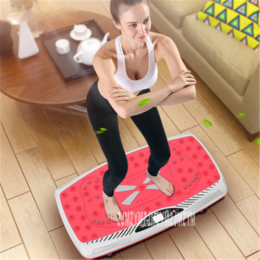 YJ-T66 Fat Burning Vibration Fitness Massager Vibrating Plate Body Shaper Weight Loss Power Fit Crazy Slimming Device 220V/50hz цена