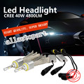 Super Bright R3 plus 9600lm H8 H9 H11 White 6000K Car LED Headlight Conversion Lamp Kit C ree XHP-50 Chips No Fan LED Headlight