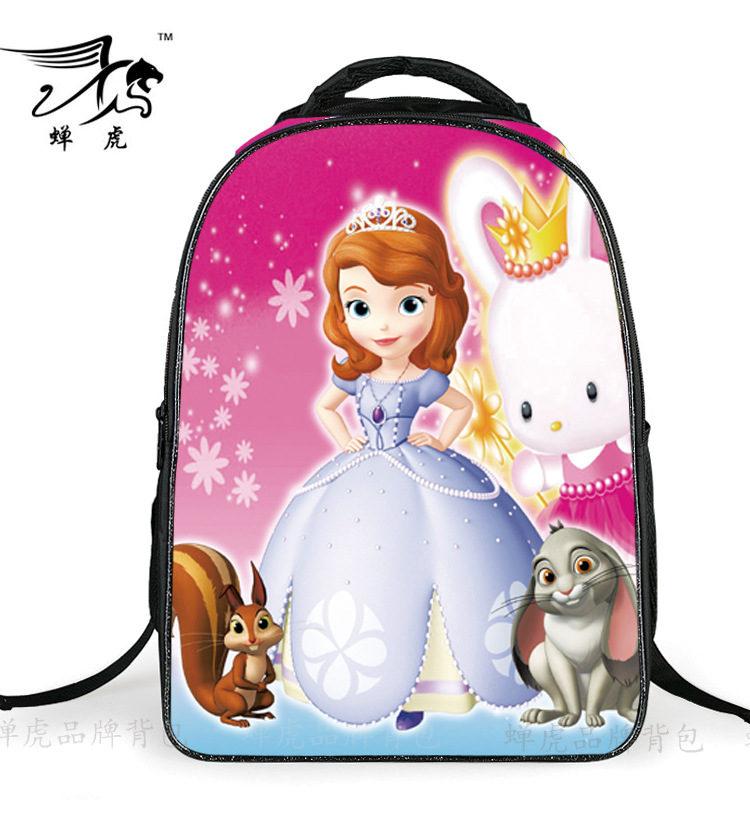 2018 Fashion Lovely Cartoon Princess Sofia Girls School Bags Children Kids Backpack Bag Satchel Mochila