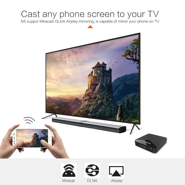 Android TV BOX  4K Amlogic S905X Quad core 4K Resolution 2GB RAM 16GB ROM 2.4G 5G WiFi