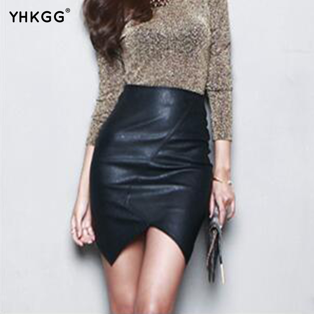 Compare Prices on Asymmetric Leather Skirt- Online Shopping/Buy ...