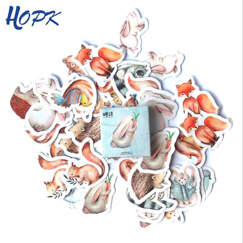 45 Pcs/Set Kawaii Animal Cute Rabbit Stickers Planner Decoration Scrapbooking Diy Diary Album Stick Label Journal Sticker