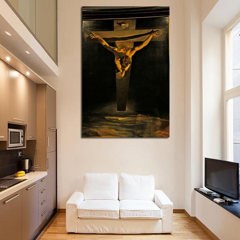 "SALVADOR DALI Canvas Print Poster 24X36/"" Christ of Saint John of the Cross"