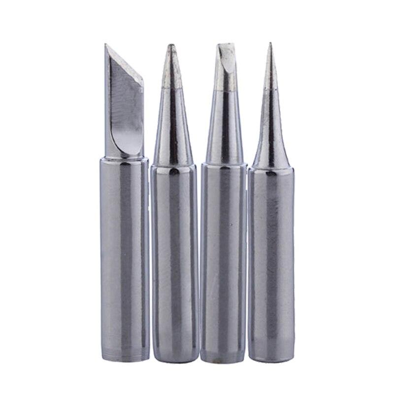 4pcs/lot Solder Soldering Iron Tip 900M-T-B 900M-T-2.4D 900M-T-K 900M-T-I For 936 Soldering Station