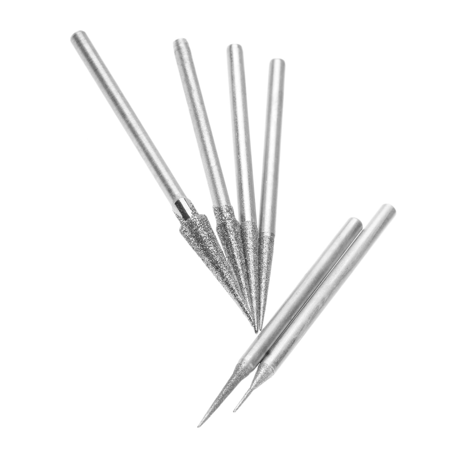 Image 5 - DRELD 6Pcs 1 4mm Diamond Grinding Head Grinding Needle Bits Burrs Metal Stone Jade Engraving Carving Tools 2.35mm Shank D Needle-in Abrasive Tools from Tools