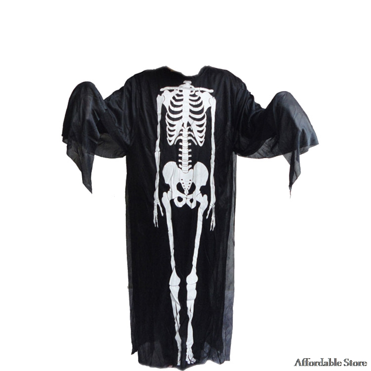 2017 Halloween cosplay make-up dance zombie suit adult men and women clothes skull skeleton ghost clothing