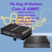 Мини настольных ПК процессор Intel i5 4200U безвентиляторный промышленный Option2 com HDMI VGA 300 м Wi-Fi 4 К HD HTPC USB 3.0 Windows Бесплатная доставка