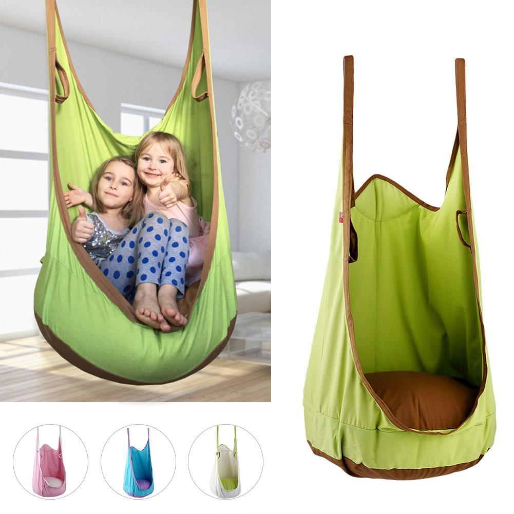 Coloré enfants hamac meubles de jardin balançoire chaise intérieure extérieure siège suspendu enfant balançoire siège Patio Portable en Stock