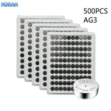 500PCS AG3 Button Batteries For Watch Toys Remote SR41 192 Cell Coin Alkaline Battery 1.55V L736 384 SR41SW CX41 LR41 392 стоимость