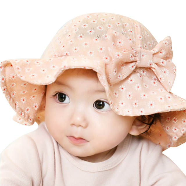 c88ec6e6c56 Online Shop Flower Baby Girl Hat Cute Bow Girls Panama Cap Breathable Summer  Sun Hat Flower Kids Princess Bucket Cap Baby Girls Clothing