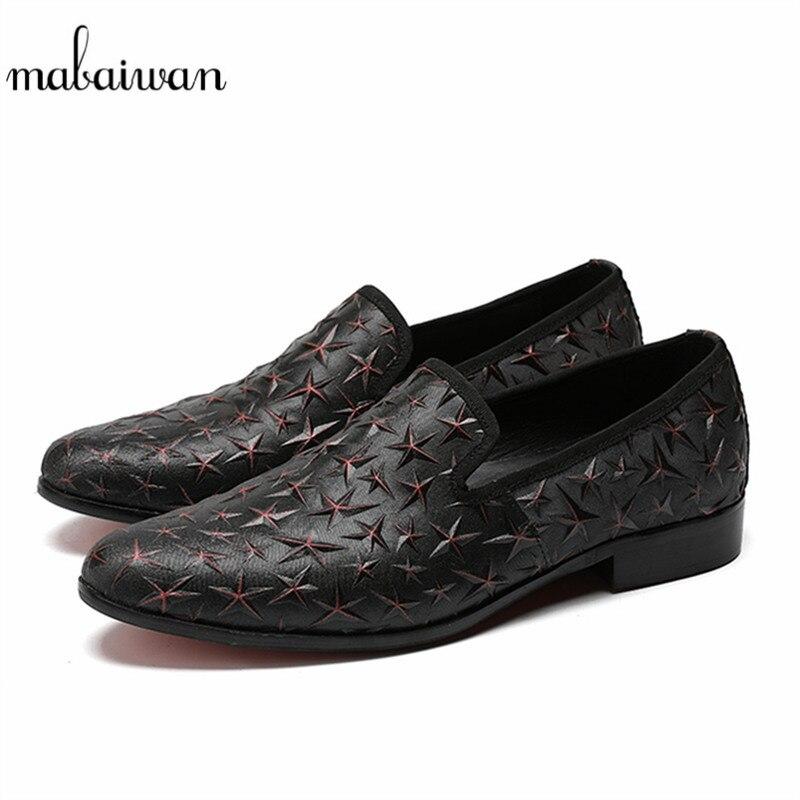 Ocasionales Zapatos Cuero Calado Boda Envío Negro Hombres Vestir Gota Nuevos Mabaiwan Estrella De Loafers Pisos La Zapatilla xwqYtwEP7