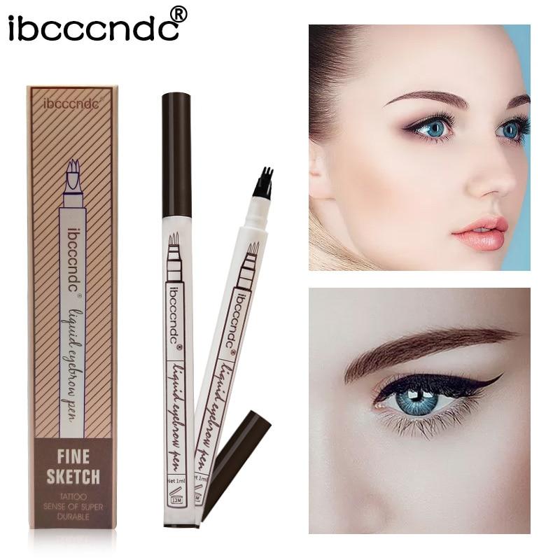 4D Silk Fiber Lash Mascara Waterproof Rimel 3d Eyelash Extension Thick Lengthening Eye Lashes Eyebrow Tattoo Pen Dropshipping 2
