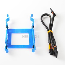 Heretom 1 Set 2.5 HDD Bracket Caddy 3650 for Dell Optiplex 3040 5040 5050 7040 7050 3046 MT X9FV3 with Power Cable GP2JM