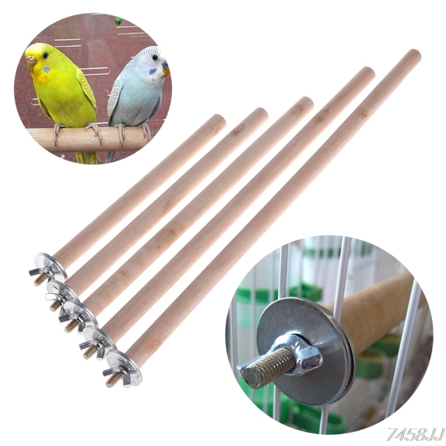 Parrot Pet Raw Wood Hanging Stand Rack Toy Parakeet Branch Perches For Bird Cage G03 Drop ship