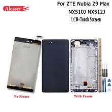 Alesser Zte ヌビア Z9 最大 NX510J NX512J Lcd ディスプレイのタッチスクリーン + フレーム修理部品電話アクセサリー + ツール zte Z9 最大
