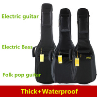 Waterproof Thicken 40 41 Electric Guitar Bass Folk Bag Case Backpack Guitarra Bass Accessories Parts Carry