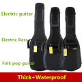 Waterproof Thicken 40 41 Electric Guitar Bass Folk  Bag Case Backpack Guitarra Bass Accessories Parts Carry Gig Oxford Cloth