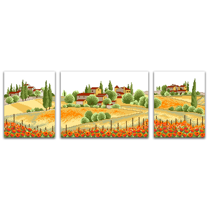 Home & Garden Package Tireless Everlasting Love Country View Chinese Cross Stitch Kits Ecological Cotton Stamped 11ct Diy Christmas Decorations For Home Gift To Be Distributed All Over The World