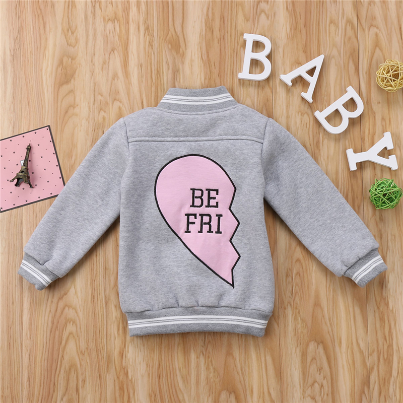 Kids Friend Clothing Sets Toddler font b Baby b font Boy Girl Long Sleeve Heart Jacket