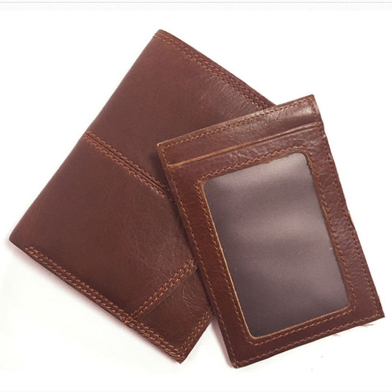 Brand Genuine Leather Mens Wallet Small Vintage Simple Money Bag Coin zipper Purse Slim Cow Leather Wallets Men Card Holder a10 gps tracker locator for car vehicle google map 5000mah long battery life gsm gprs tracker