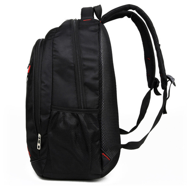 Casual Solid Color Material Oxford Man's Backpack Multi-functional Large-capacity Student Schoolbag Simple Bag 1