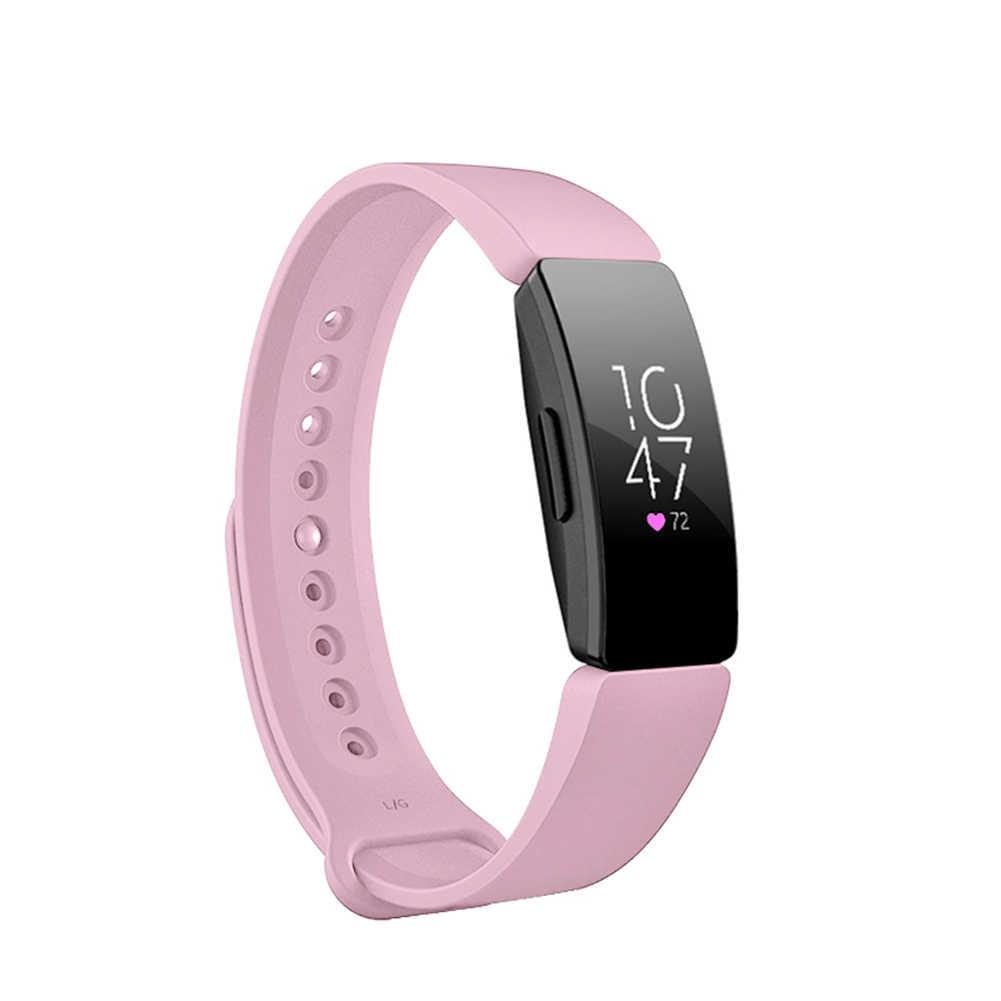 Силиконовый водостойкий умный браслет на запястье для замены Fitbit Inspire HR