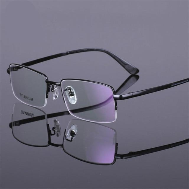 2015 new men High-grade environmental protection business Pure Titanium Glasses Eyeglasses semi Frames Half frame free shipping