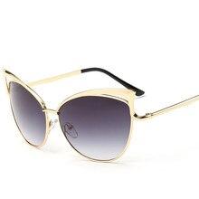 2017 16 Цвет Óculos De Sol женщина для Cat Eye Солнцезащитные Очки женская Мода Солнцезащитных Очков Вырез Сплава Кадр UV400 Сексуальная Солнцезащитные Очки YJ19