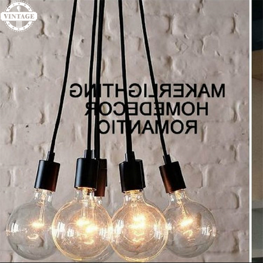 LED Edison Bulb E27 Celling Light  Pendant Light New Art Retro DIY Antique lamps living multi-colored Lighting High Quality diy vintage lamps antique art spider pendant lights modern retro e27 edison bulb 2 meters line home lighting suspension
