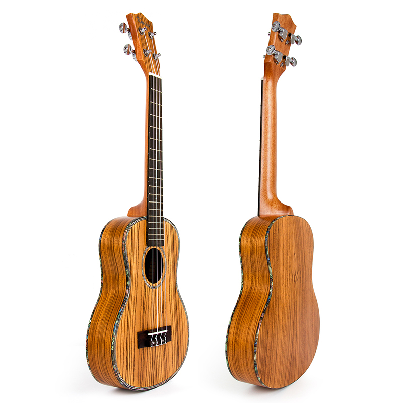 Kmise Travel Ukulele Tenor Thin Body 26 Inch Zebra Ukelele Uke Hawaii Guitar 18 Fret