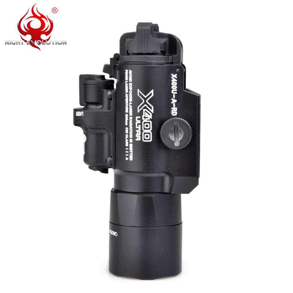Image 5 - Night Evolution Element X400U ULTRA LED Airsoftsports Tactical Softair Weapon Flashlight With Red IR Laser Hunting Light NE01009-in Weapon Lights from Sports & Entertainment