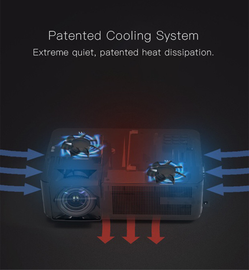 Projector CM1's patented cooling system