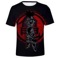 Novo dragão quente bola z goku vegeta preto 3d camiseta dos homens 2019 verão anime t camisa o-pescoço camiseta casual marca dragonball topos t